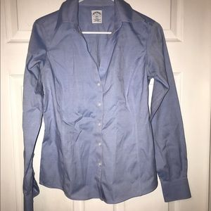 Blue Brooks Brothers top.